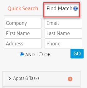 LeadMaster CRM - Find Match