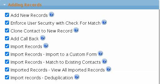 Logon Management - Adding Records Privileges