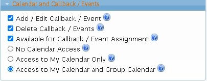LeadMaster CRM - Calendar and Callbacks Privileges