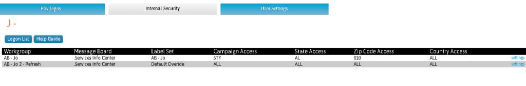 User and Logon - Internal Security