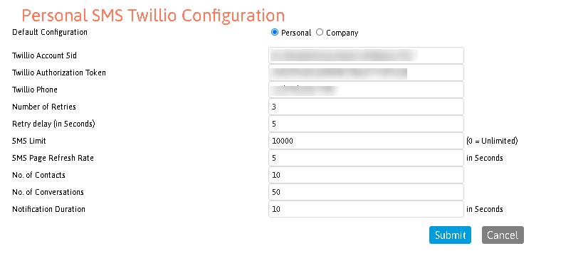 LeadMaster SMS Configuration